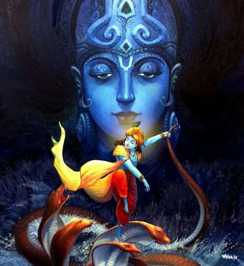 krishna-fight-with-snake-in-river