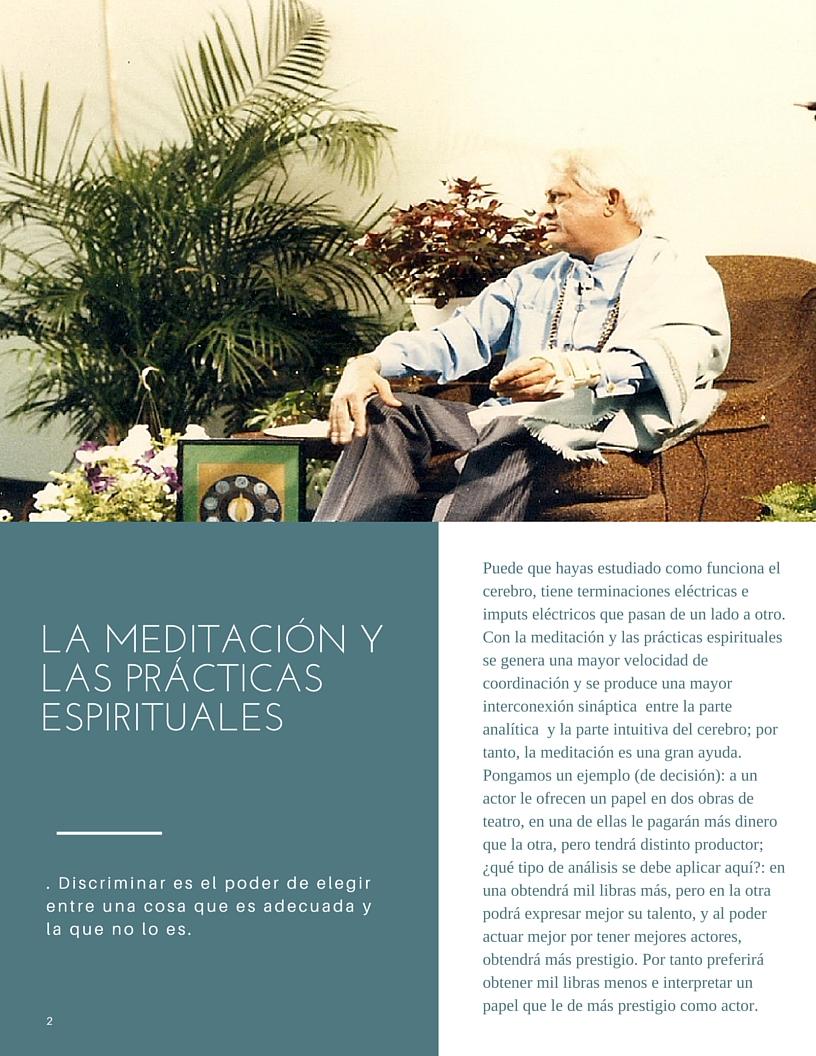 la meditación y las prácticas espirituales